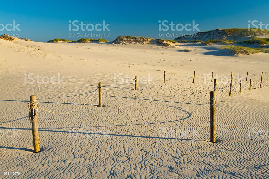 Dunes in slowinski national park stock photo