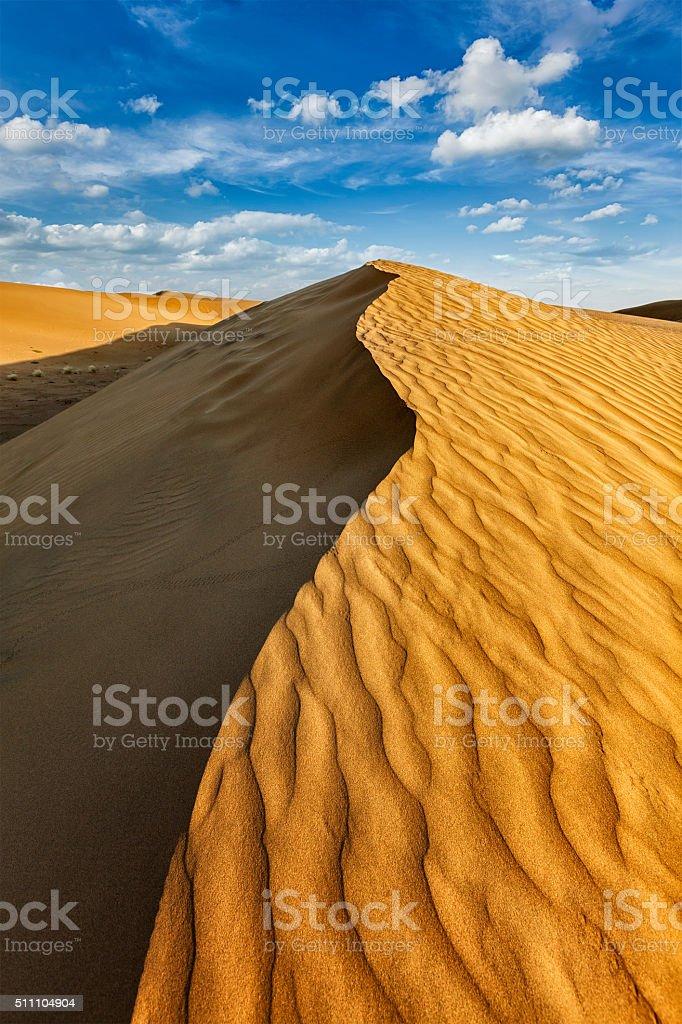 Dunes in Thar Desert stock photo