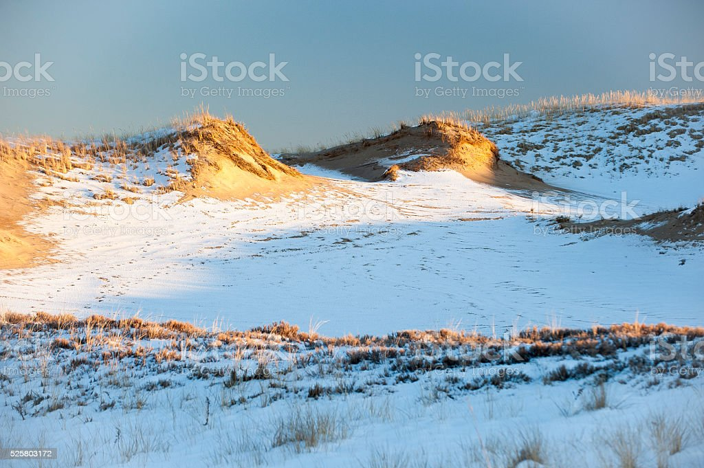 Dunes in winter stock photo