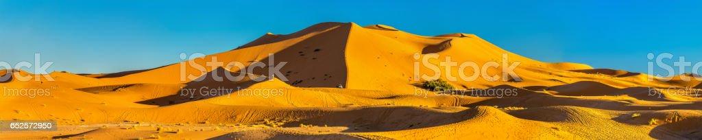 Dunes of Erg Chebbi near Merzouga in Morocco stock photo
