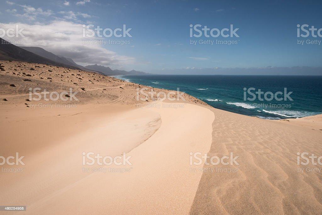 Dunes of Fuerteventura royalty-free stock photo