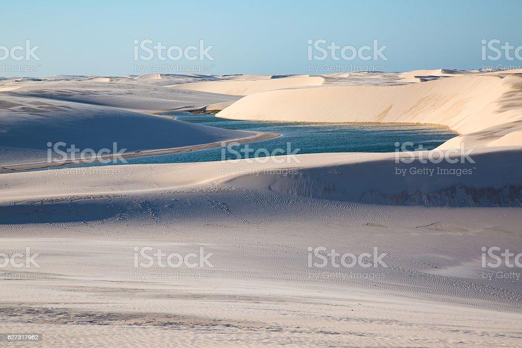 Dunes of Lençois Maranhenses, Maranhão, Brazil stock photo