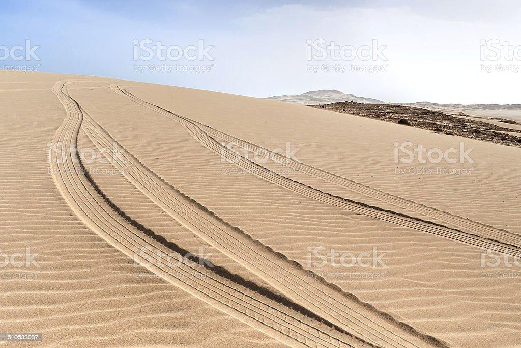 Dunes of Morro d'Areia, Boavista, Kapverden stock photo