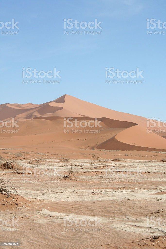 Dunes of Sossusvlei, Big Daddy, Namib Desert, Namibia, Africa stock photo