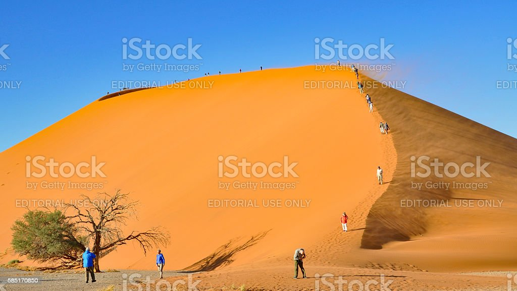 Dunes of the Namib Sand Sea stock photo
