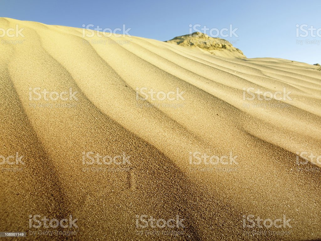 Dunes of the Sahara royalty-free stock photo