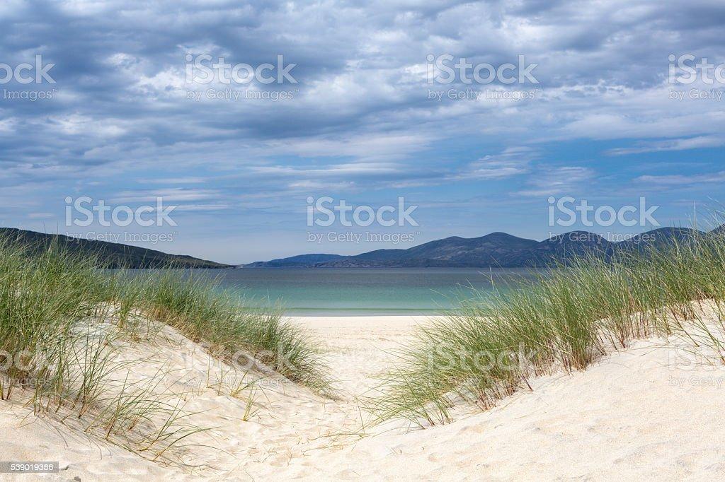 Dunes on the Isle of Harris stock photo