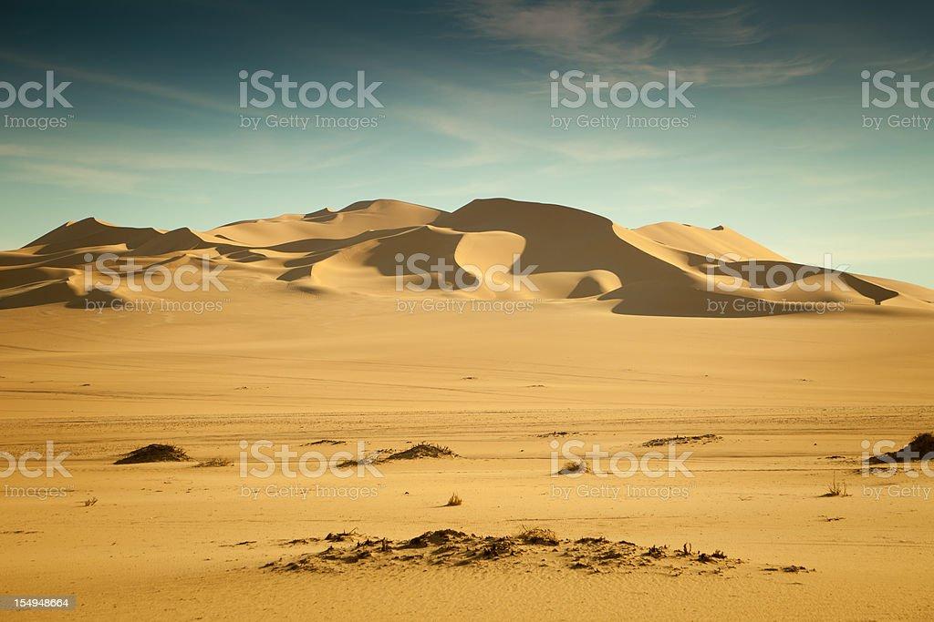 Dunescape in Libyan Sahara desert stock photo