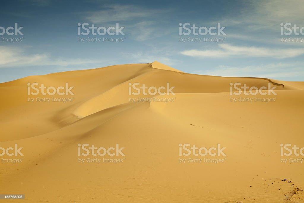 Dunescape in Libyan Sahara desert royalty-free stock photo