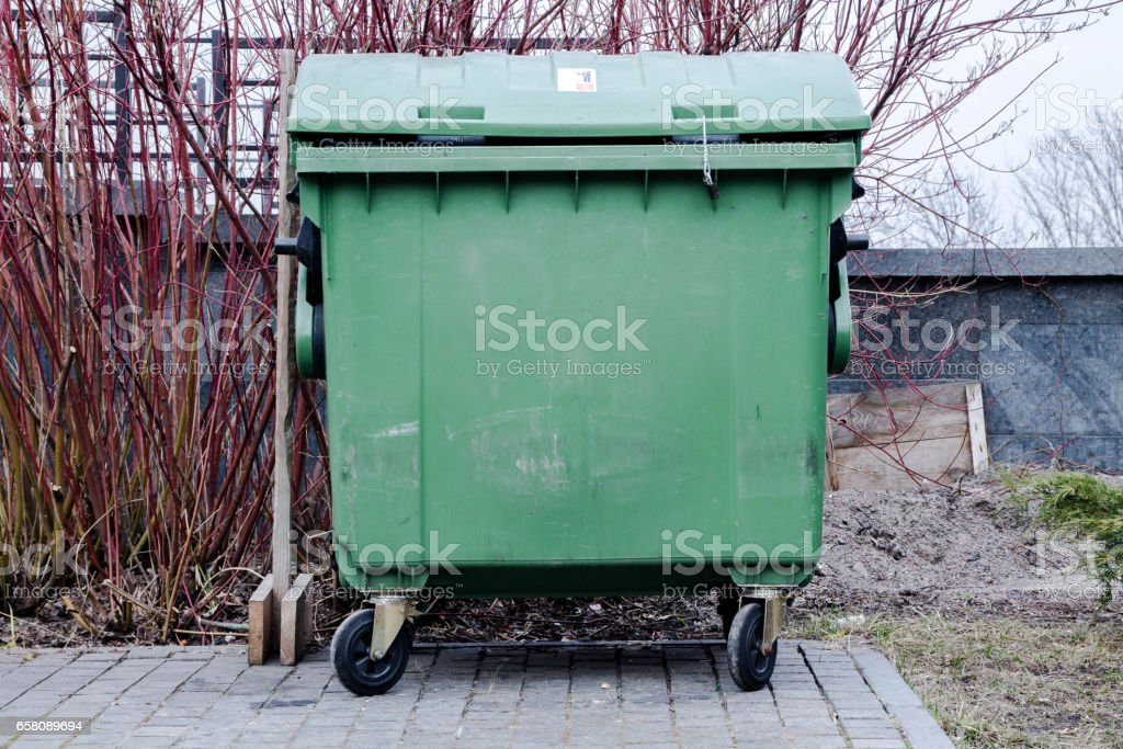 Dung tank. Dung container. Tank debris. stock photo