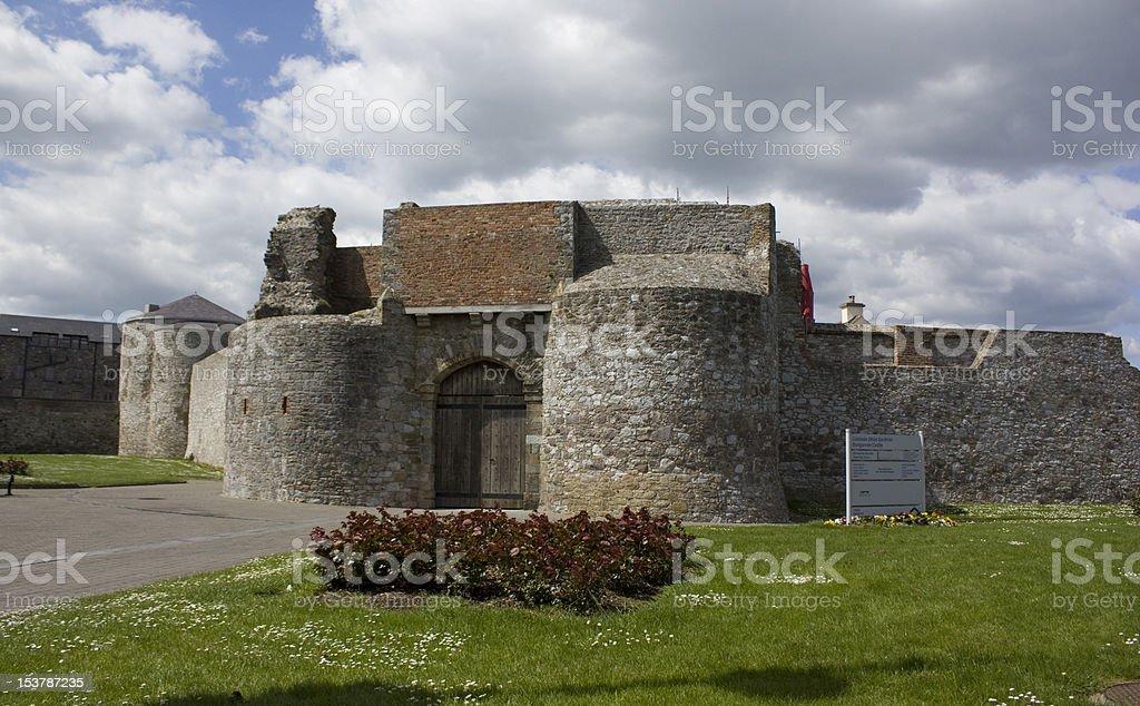 Dungarvan Castle stock photo
