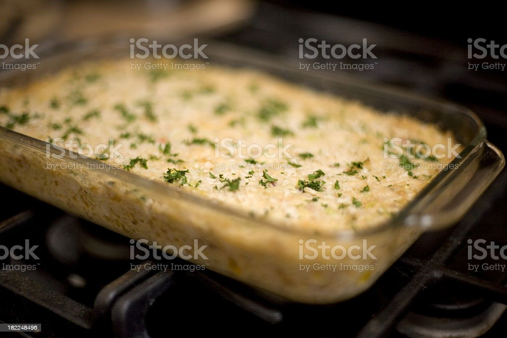 Dungeness crab and artichoke dip royalty-free stock photo