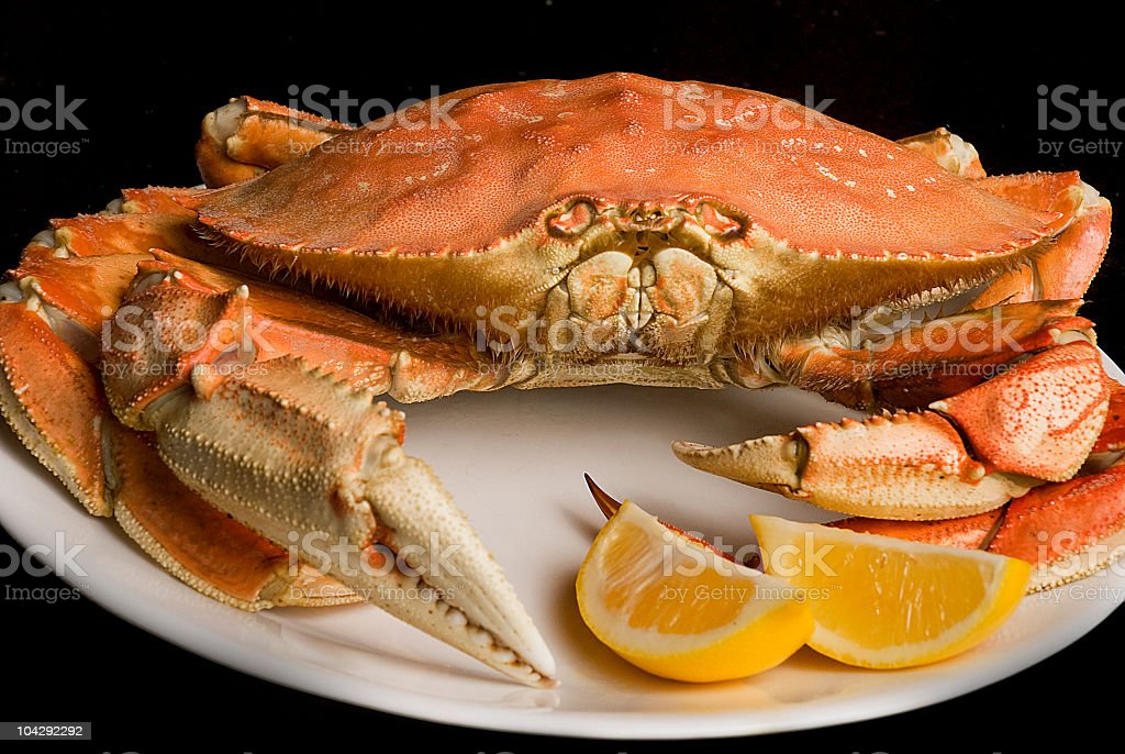 Dungeness Crab Dinner stock photo