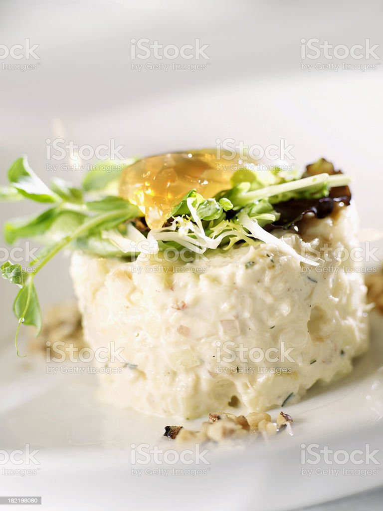 Dungeness Crab Waldorf Salad royalty-free stock photo