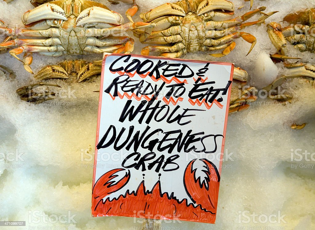 Dungeness Crabs at Market stock photo