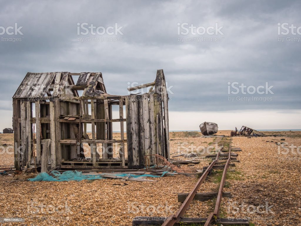 Dungeness in Kent, UK stock photo