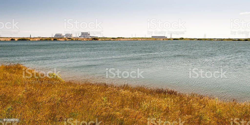 Dungeness nuclear power station stock photo