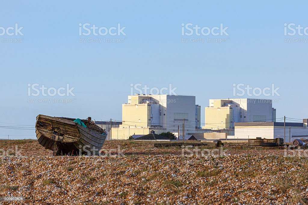 Dungeness Nuclear Power Station - Series stock photo