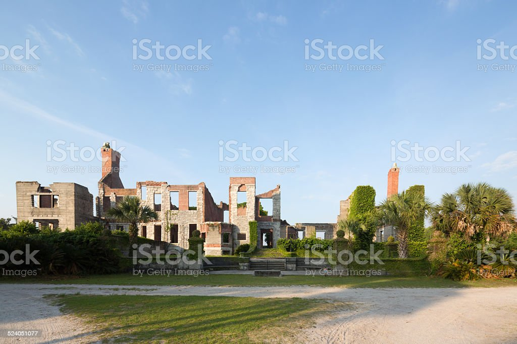 Dungeness ruins on Cumberland Island stock photo