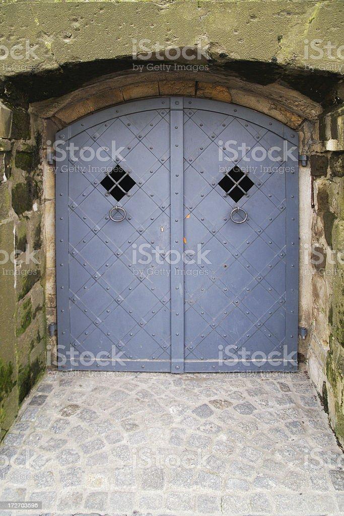 Dungeon door royalty-free stock photo