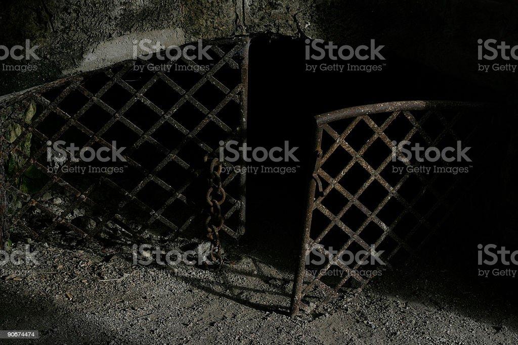 dungeon enterance stock photo