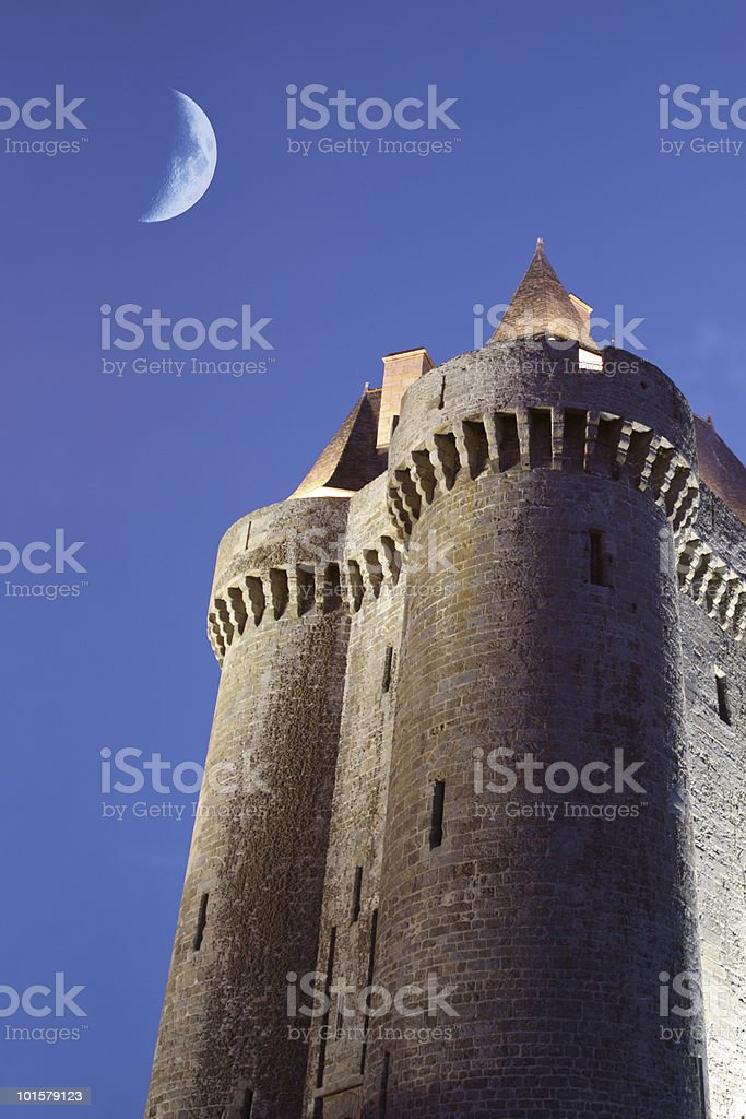 Dungeon in the twilight royalty-free stock photo
