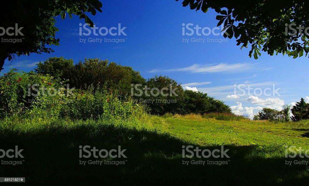 Dungeon of swedish landscape stock photo