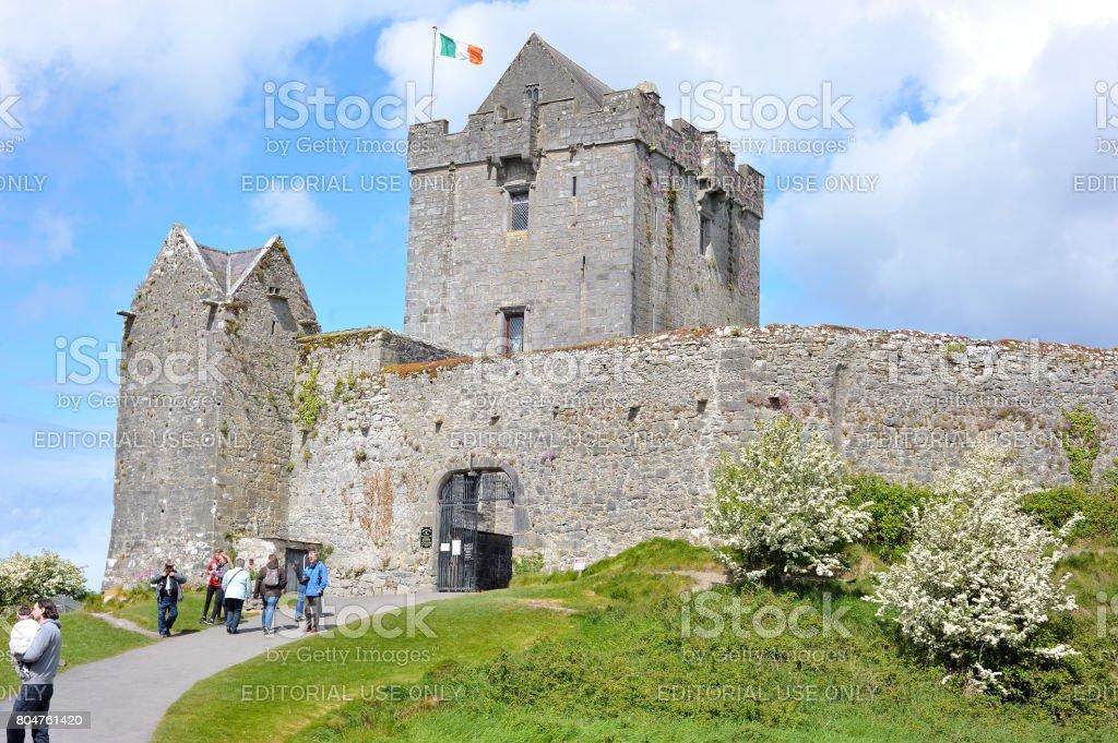 Dunguaire Castle entrance. stock photo