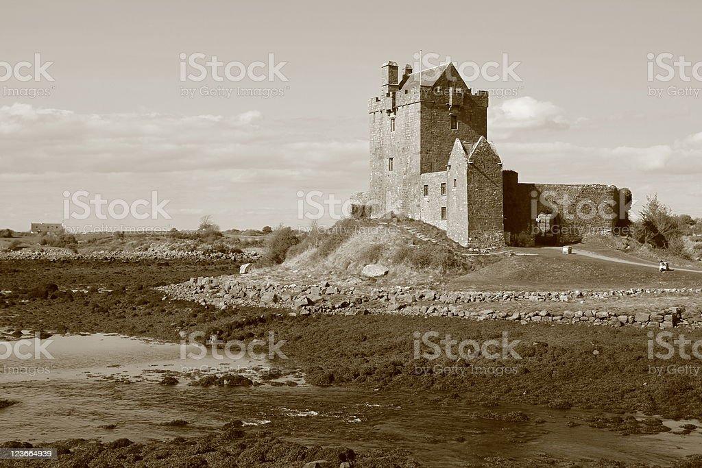 Dunguaire castle in Ireland stock photo