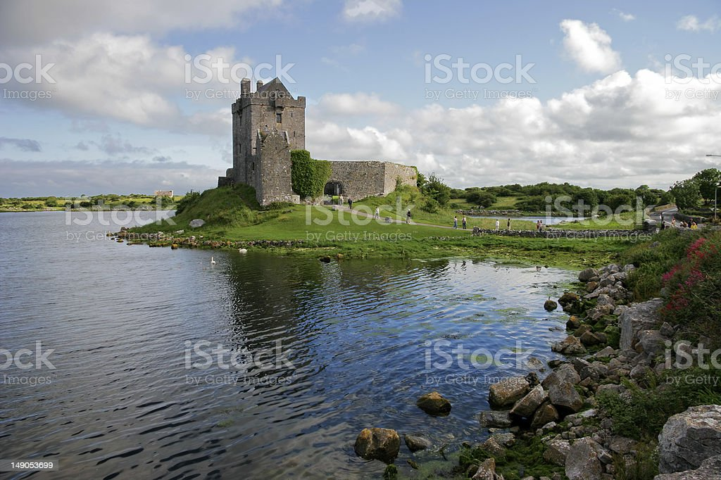 Dunguaire Castle in Ireland with a water view royalty-free stock photo