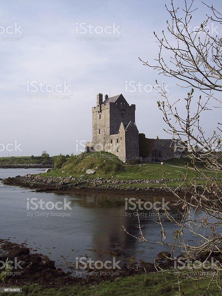 Dunguaire Castle in Kinvara Bay Ireland stock photo