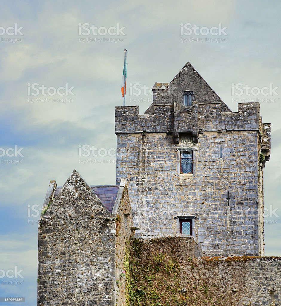 Dunguire castle stock photo