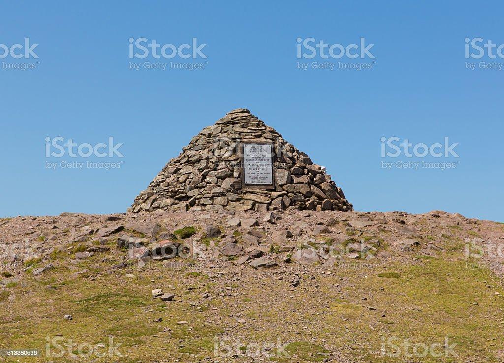 Dunkery Beacon highest point on Exmoor near Minehead Somerset UK stock photo