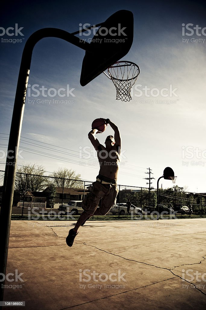 Dunkin' Basketball royalty-free stock photo