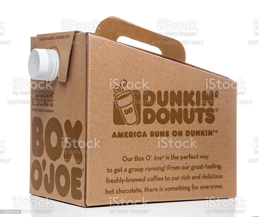Dunkin' Donuts Box O' Joe stock photo