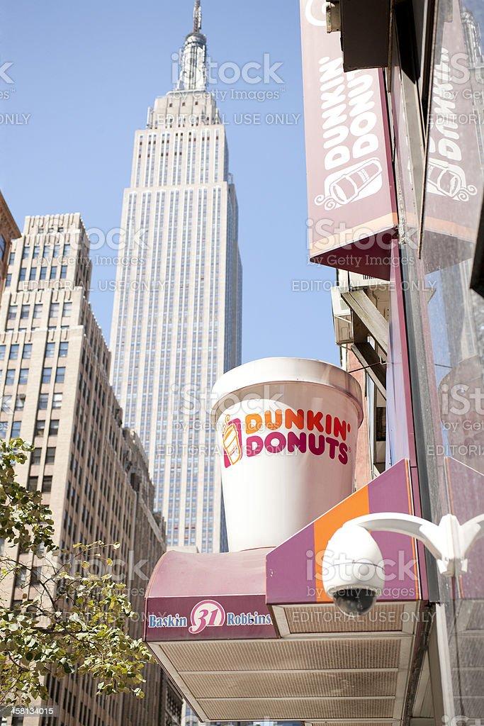 Dunkin Donuts in Manhattan stock photo