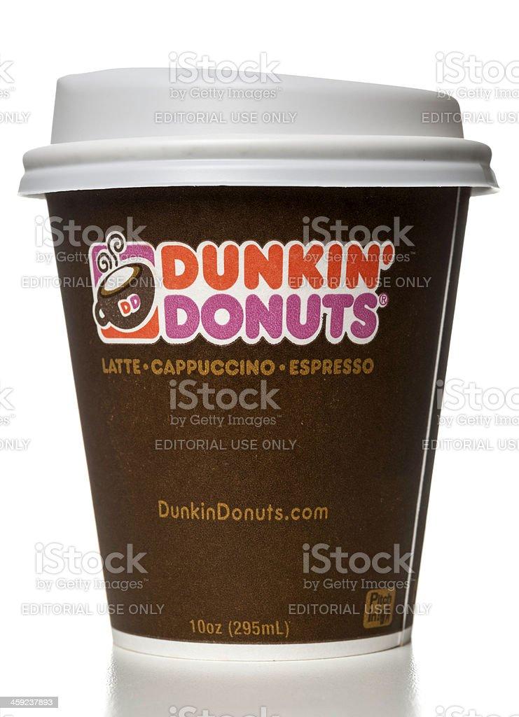 Dunkin' Donuts latte capuccino espresso cup stock photo