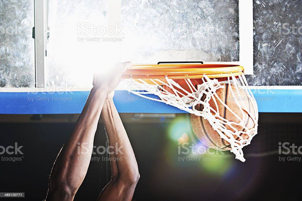 Dunking stock photo