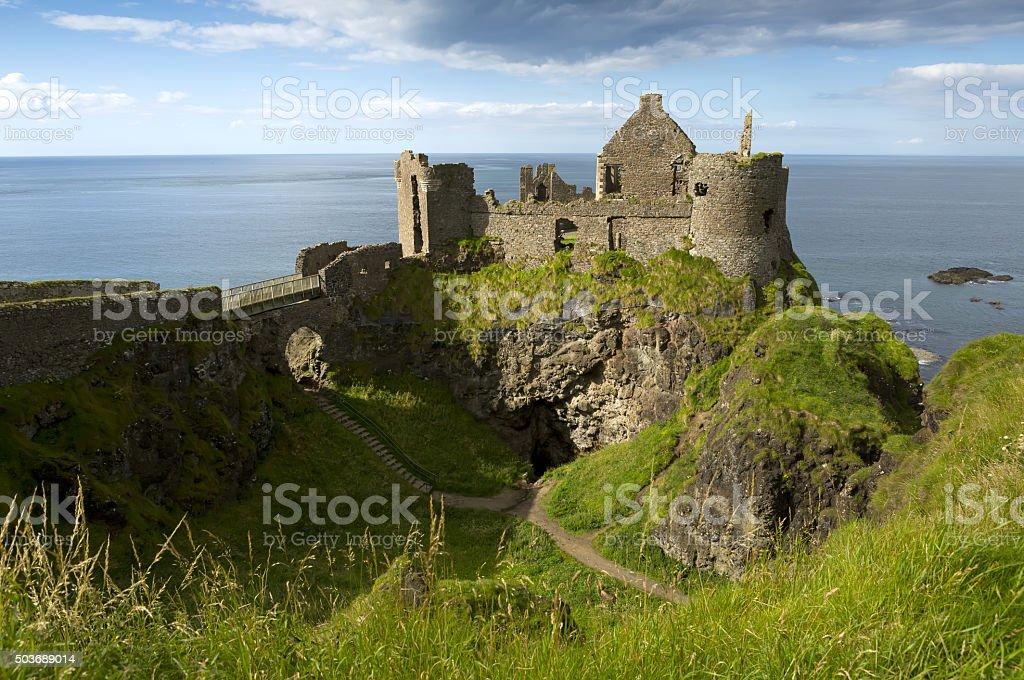 Dunluce Castle, Antrim, Northern Ireland. stock photo