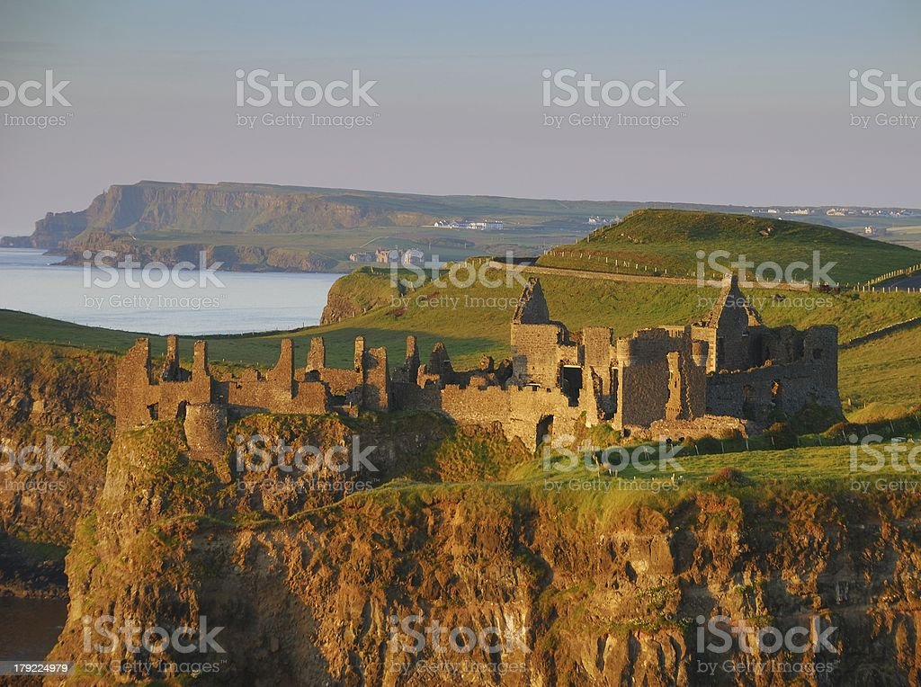 Dunluce Castle, County Antrim, Northern Ireland stock photo