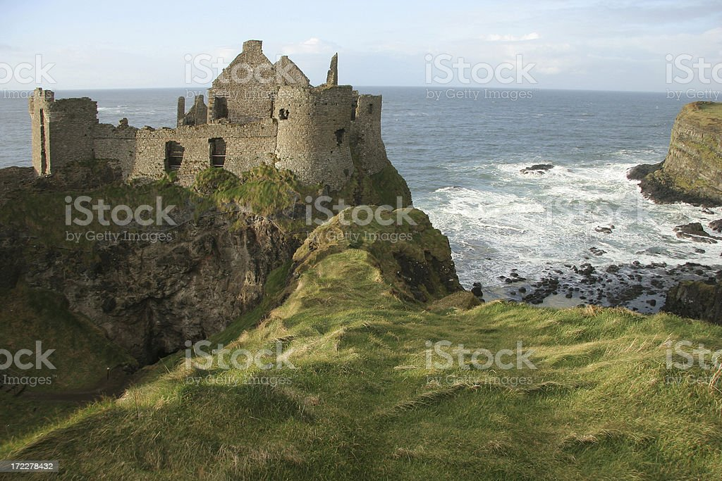 Dunluce Castle in County Antrim, Ireland stock photo