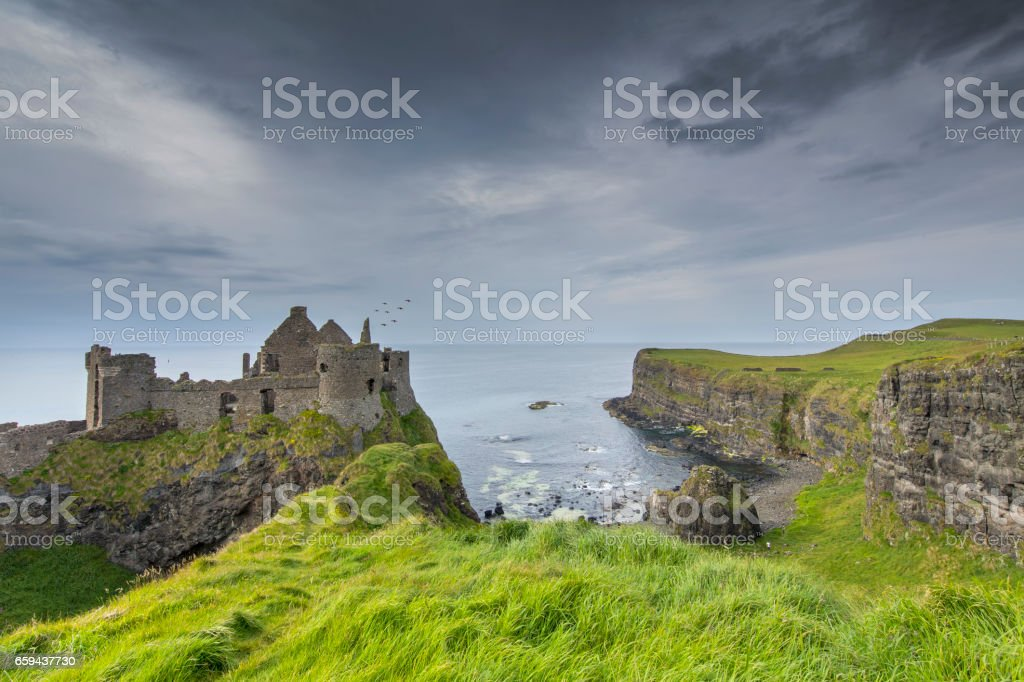 Dunluce Castle, Ireland stock photo