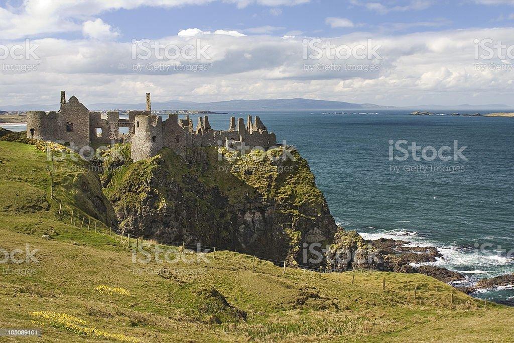 Dunluce Castle, Northern Ireland stock photo