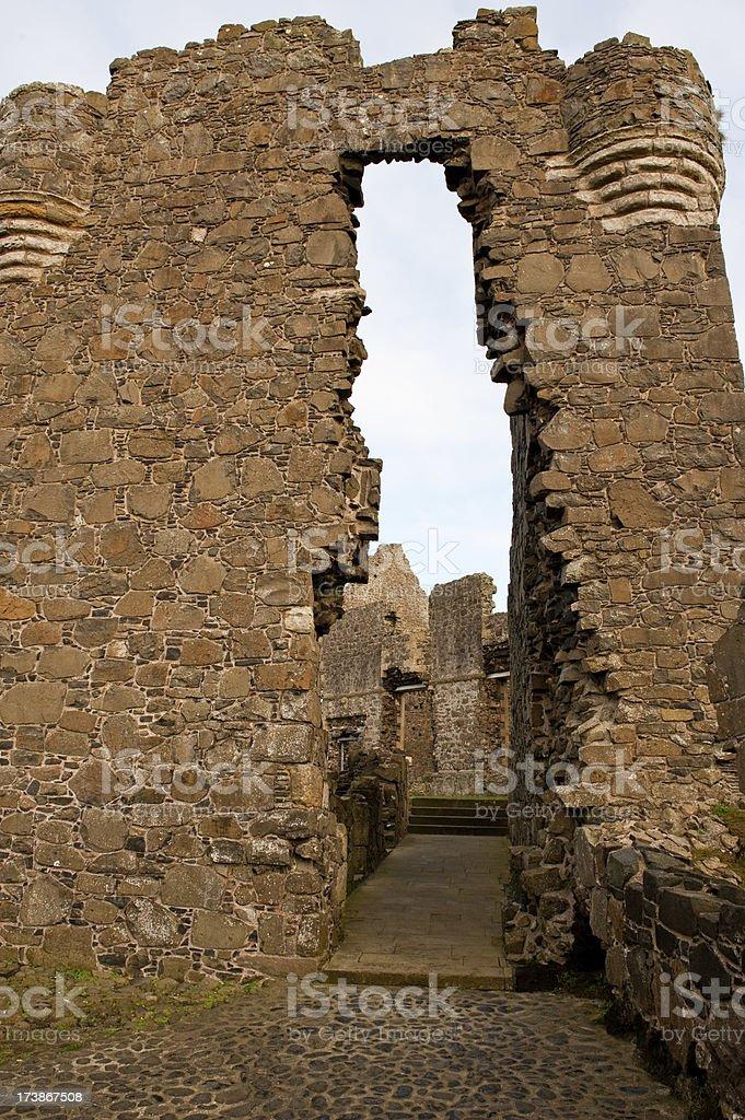 Dunluce Castle Northern Ireland stock photo