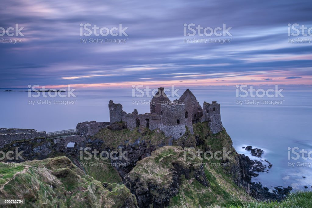 Dunluce Castle, Northern Ireland stock photo