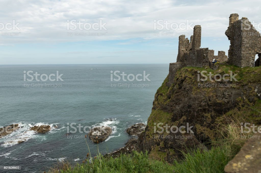 Dunluce Castle stock photo