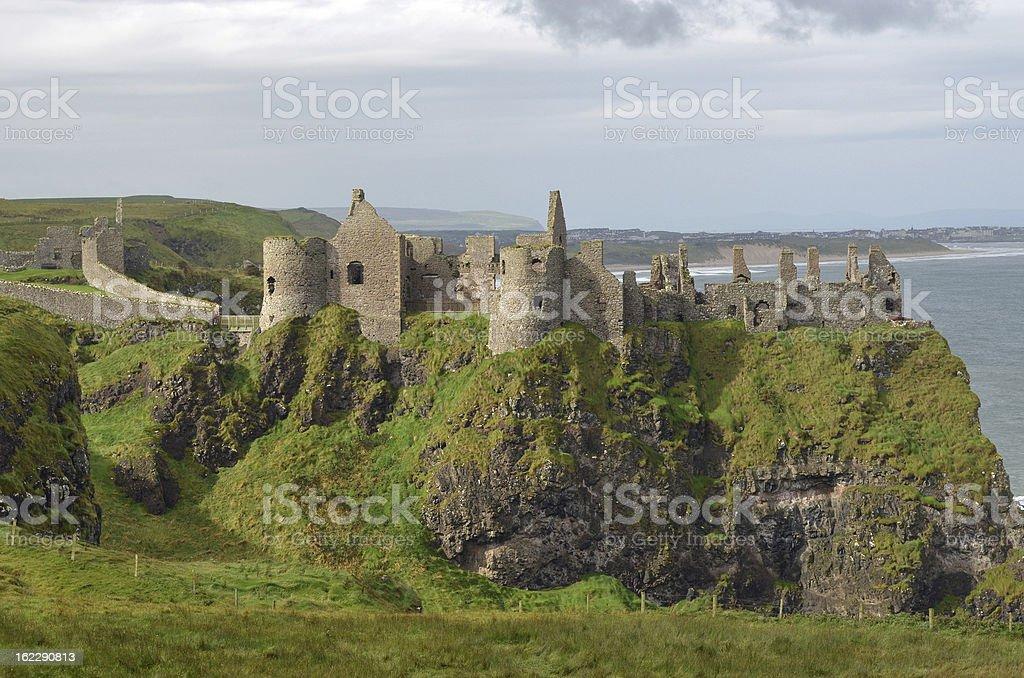 Dunluce Castle Ruin, Northern Ireland stock photo