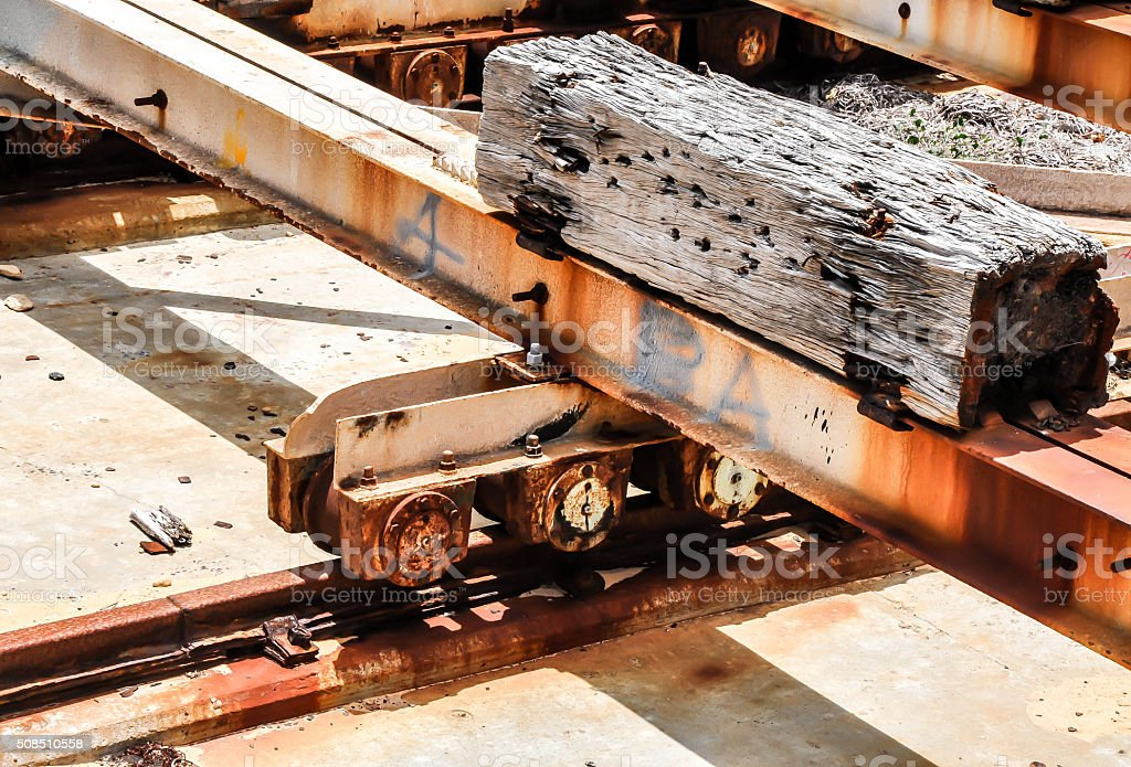 Dunnage for Shipping Freight stock photo