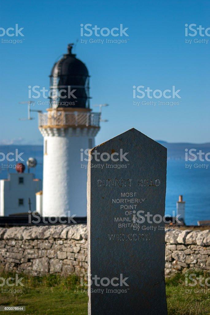 Dunnet Head in Scotland stock photo