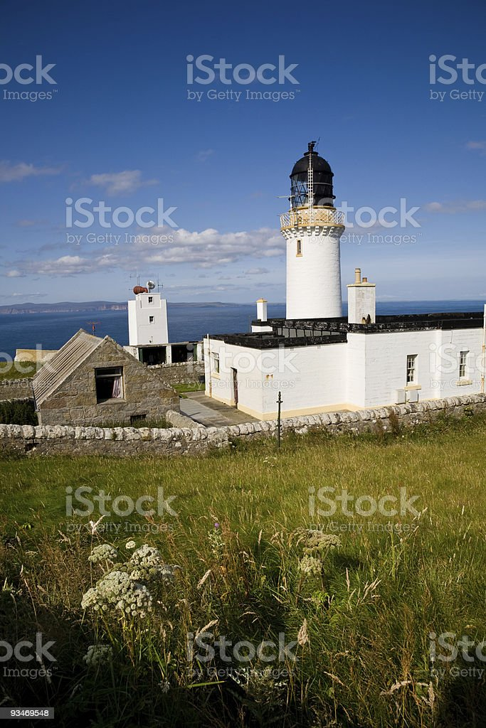 Dunnet Head Lighthouse, Scotland stock photo